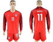 Wholesale Cheap USA #11 Bedoya Away Long Sleeves Soccer Country Jersey