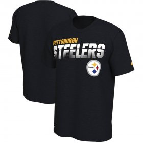 Wholesale Cheap Pittsburgh Steelers Nike Sideline Line of Scrimmage Legend Performance T-Shirt Black