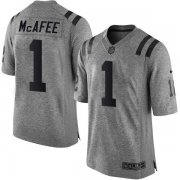 Wholesale Cheap Nike Colts #1 Pat McAfee Gray Men's Stitched NFL Limited Gridiron Gray Jersey