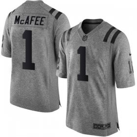 Wholesale Cheap Nike Colts #1 Pat McAfee Gray Men\'s Stitched NFL Limited Gridiron Gray Jersey