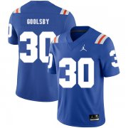 Wholesale Cheap Florida Gators 30 DeAndre Goolsby Blue Throwback College Football Jersey