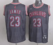 Wholesale Cheap Cleveland Cavaliers #23 LeBron James Gray Shadow Jersey