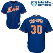 Wholesale Cheap Mets #30 Michael Conforto Blue New Cool Base Stitched MLB Jersey