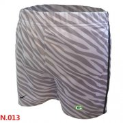 Wholesale Cheap Women's Nike NFL Green Bay Packers Embroidered Team Logo Zebra Stripes Shorts