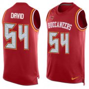 Wholesale Cheap Nike Buccaneers #54 Lavonte David Red Team Color Men's Stitched NFL Limited Tank Top Jersey