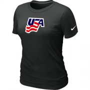 Wholesale Cheap Women's Nike USA Graphic Legend Performance Collection Locker Room T-Shirt Black