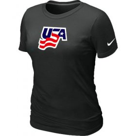 Wholesale Cheap Women\'s Nike USA Graphic Legend Performance Collection Locker Room T-Shirt Black