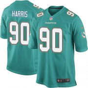 Wholesale Cheap Nike Dolphins #90 Charles Harris Aqua Green Team Color Youth Stitched NFL Elite Jersey