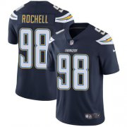 Wholesale Cheap Nike Chargers #98 Isaac Rochell Navy Blue Team Color Men's Stitched NFL Vapor Untouchable Limited Jersey