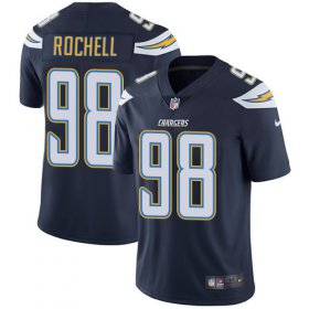 Wholesale Cheap Nike Chargers #98 Isaac Rochell Navy Blue Team Color Men\'s Stitched NFL Vapor Untouchable Limited Jersey