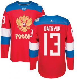 Wholesale Cheap Team Russia #13 Pavel Datsyuk Red 2016 World Cup Stitched NHL Jersey