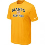 Wholesale Cheap Nike NFL New York Giants Heart & Soul NFL T-Shirt Yellow