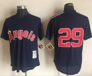 Wholesale Cheap Mitchell And Ness 1984 Angels of Anaheim #29 Rod Carew Navy Blue Throwback Stitched MLB Jersey