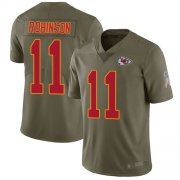 Wholesale Cheap Nike Chiefs #11 Demarcus Robinson Olive Youth Stitched NFL Limited 2017 Salute to Service Jersey