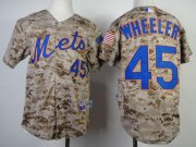 Wholesale Cheap Mets #45 Zack Wheeler Camo Alternate Cool Base Stitched Youth MLB Jersey