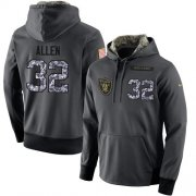 Wholesale Cheap NFL Men's Nike Oakland Raiders #32 Marcus Allen Stitched Black Anthracite Salute to Service Player Performance Hoodie