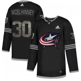 Wholesale Cheap Adidas Blue Jackets #30 Curtis McElhinney Black Authentic Classic Stitched NHL Jersey
