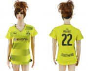 Wholesale Cheap Women's Dortmund #22 Pulisic Home Soccer Club Jersey