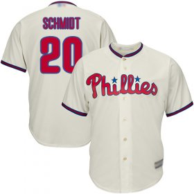 Wholesale Cheap Phillies #20 Mike Schmidt Cream Cool Base Stitched Youth MLB Jersey
