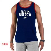 Wholesale Cheap Men's Nike NFL Philadelphia Eagles Sideline Legend Authentic Logo Tank Top Dark Blue