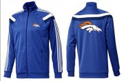 Wholesale Cheap NFL Denver Broncos Team Logo Jacket Blue_4
