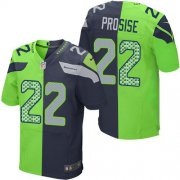Wholesale Cheap Nike Seahawks #22 C. J. Prosise Steel Blue/Green Men's Stitched NFL Elite Split Jersey