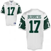 Wholesale Cheap Jets #17 Plaxico Burress White Stitched NFL Jersey