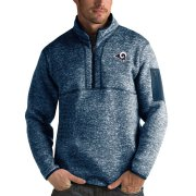 Wholesale Cheap Calgary Flames Antigua Fortune Quarter-Zip Pullover Jacket Blue