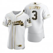 Wholesale Cheap Atlanta Braves #3 Dale Murphy White Nike Men's Authentic Golden Edition MLB Jersey