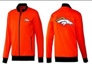 Wholesale Cheap NFL Denver Broncos Team Logo Jacket Orange