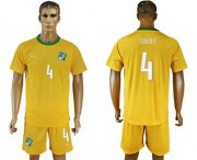 Wholesale Cheap Cote d'lvoire #4 Toure Home Soccer Country Jersey