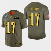Wholesale Cheap Philadelphia Eagles #17 Alshon Jeffery Men's Nike Olive Gold 2019 Salute to Service Limited NFL 100 Jersey
