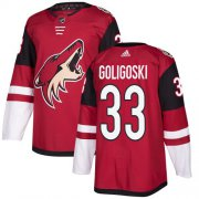 Wholesale Cheap Adidas Coyotes #33 Alex Goligoski Maroon Home Authentic Stitched NHL Jersey
