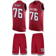 Wholesale Cheap Nike Falcons #76 Kaleb McGary Red Team Color Men's Stitched NFL Limited Tank Top Suit Jersey