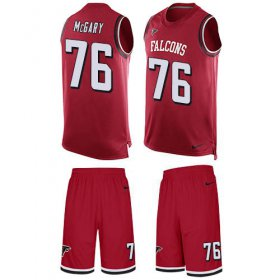 Wholesale Cheap Nike Falcons #76 Kaleb McGary Red Team Color Men\'s Stitched NFL Limited Tank Top Suit Jersey
