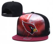 Wholesale Cheap Arizona Cardinals Team Logo Red Black Adjustable Leather Hat TX1
