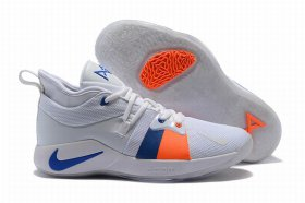 Wholesale Cheap Nike PG 2 White Blue Orange