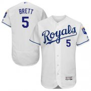 Wholesale Cheap Royals #5 George Brett White Flexbase Authentic Collection Stitched MLB Jersey