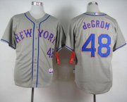 Wholesale Cheap Mets #48 Jacob DeGrom Grey Road Cool Base Stitched MLB Jersey