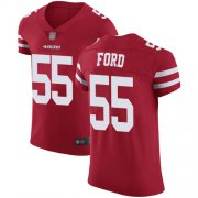Wholesale Cheap Nike 49ers #55 Dee Ford Red Team Color Men's Stitched NFL Vapor Untouchable Elite Jersey