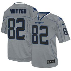 Wholesale Cheap Nike Cowboys #82 Jason Witten Lights Out Grey Youth Stitched NFL Elite Jersey