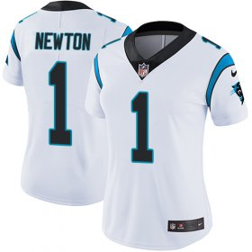 Wholesale Cheap Nike Panthers #1 Cam Newton White Women\'s Stitched NFL Vapor Untouchable Limited Jersey