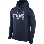 Wholesale Cheap Men's Tennessee Titans Nike Navy Sideline ThermaFit Performance PO Hoodie