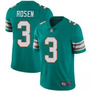 Wholesale Cheap Nike Dolphins #3 Josh Rosen Aqua Green Alternate Men's Stitched NFL Vapor Untouchable Limited Jersey