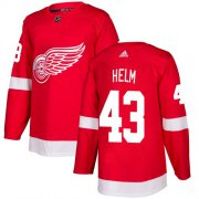 Wholesale Cheap Adidas Red Wings #43 Darren Helm Red Home Authentic Stitched NHL Jersey