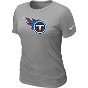 Wholesale Cheap Women's Nike Tennessee Titans Logo NFL T-Shirt Light Grey
