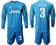 Wholesale Cheap Juventus #3 Chiellini Third Long Sleeves Soccer Club Jersey