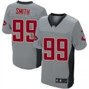 Wholesale Cheap Nike 49ers #99 Aldon Smith Grey Shadow Youth Stitched NFL Elite Jersey