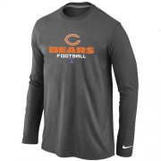 Wholesale Cheap Nike Chicago Bears Critical Victory Long Sleeve T-Shirt Dark Grey