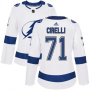Cheap Adidas Lightning #71 Anthony Cirelli White Road Authentic Women's Stitched NHL Jersey
